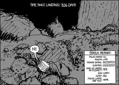 Rosetta-on-the-comet