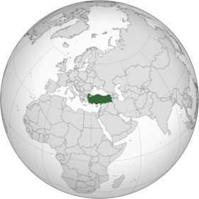 Turkey (orthographic projection)