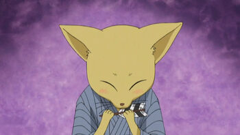 """Oden kitsune's son thanking Watanuki for the <a href=""""/wiki/Arrow_of_Virtue"""" title=""""Arrow of Virtue"""">Arrow of Virtue</a>"""