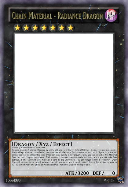 chain material radiance dragon yugioh card maker