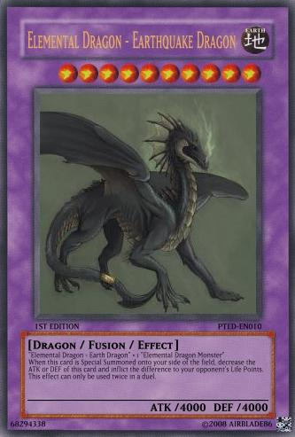 Elemental Dragon - Earthquake Dragon | Yu-Gi-Oh Card Maker ... Element Dragon Yugioh