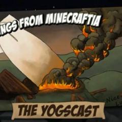 One of the Shadow of Israphel title cards depicting the destruction of Lysander's airship.