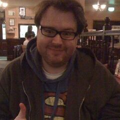Another photo of Simon wearing his famous Superman hoodie.