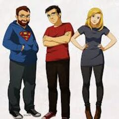 Drawing of Simon, Lewis, and Hannah.