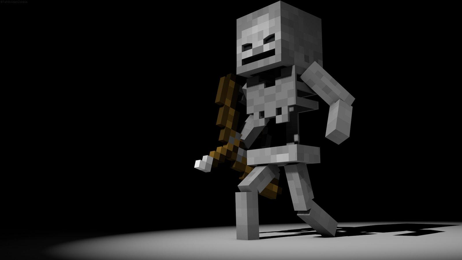 Image in the spotlight skeleton hd minecraft wallpaper for Crazy craft 3 0 server