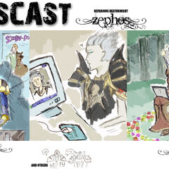Early art of the Yogscast's WotLK characters.