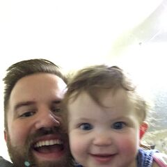 Turps with his daughter.