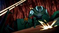 Aquaman and Lagoon Boy wait for help