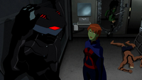 Miss Martian lets Cheshire escape