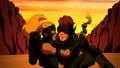 Kid Flash and Artemis escape.png