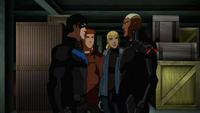 The four members discuss their secret plan