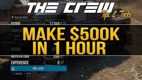 MAKE 500K IN 1 HOUR! The Crew Tips & Tricks