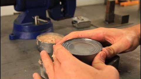 How to Open a Can without Can Opener - Zombie Survival Tips 20