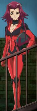 Akiza in her runner suit