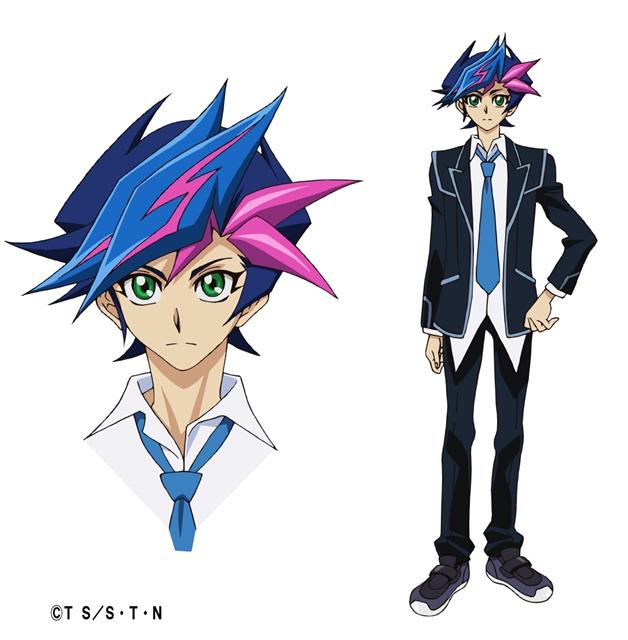 Yusaku Fujiki, protagonista di Yu-Gi-Oh! VRAINS, nei suoi abiti quotidiani