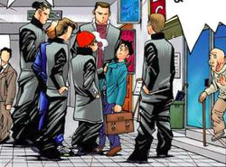 Hirutani's gang mugging