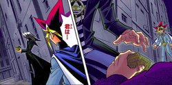 Yugi finds Dark Bakura and the thief