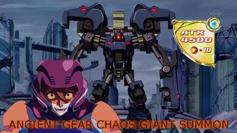 (Eng Subbed) Ancient Gear Chaos Giant Summon & Effect 古代の機械混沌巨人 (Dennis Macfield)