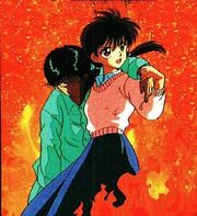 Keiko saving Yusuke