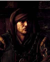 Vernon Roche během výslechu zaklínače Geralta z Rivie.