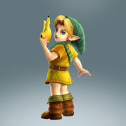 Hyrule Warriors Legends Young Link Standard Outfit (Lorule - Gulley Recolor)