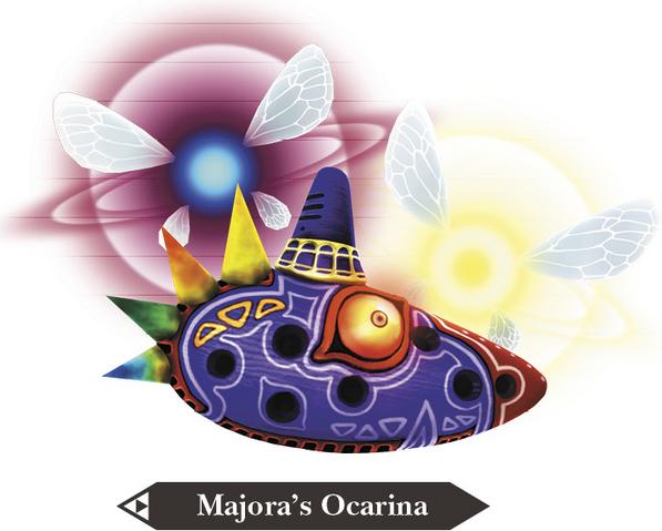 File:Hyrule Warriors Legends Ocarina Majora's Ocarina (Render).png