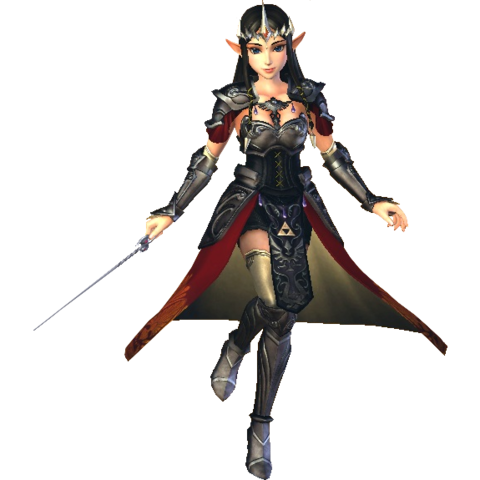 File:Hyrule Warriors Princess Zelda Standard Outfit (Boss - Argorok Recolor).png