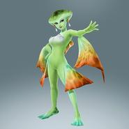 Hyrule Warriors Legends Princess Ruto Standard Outfit (A Link Between Worlds DLC - Queen Oren Recolor)