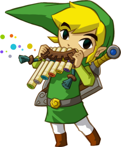 File:Link Playing Spirit Flute.png