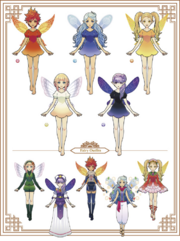 Hyrule Warriors Legends My Fairy Companion Fairies (Artwork)