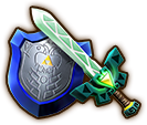 File:Hyrule Warriors Legends Light Sword Lokomo Sword & Mirror Shield (Level 3 Light Sword).png
