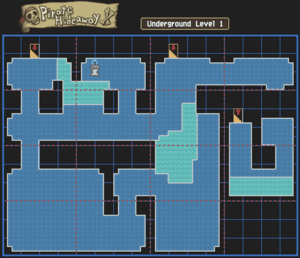 Pirate Hideaway Underground Level 1 Map