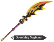 Hyrule Warriors Naginata Scorching Naginata (Render)