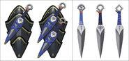 Hyrule Warriors Artwork Sheik's Kunai (Concept Artwork)