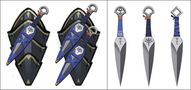 File:Hyrule Warriors Artwork Sheik's Kunai (Concept Artwork).jpg