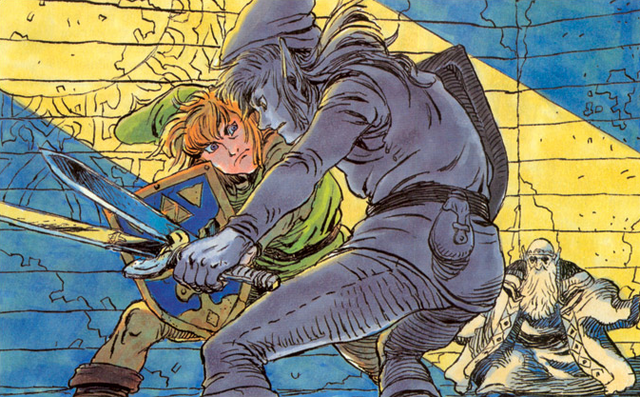 File:Link vs. Dark Link (The Adventure of Link).png