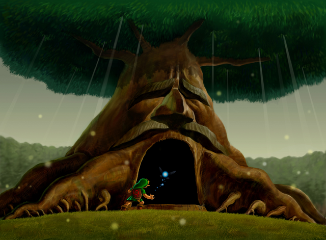 File:Link Enters the Great Deku Tree.png