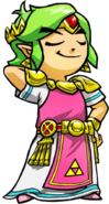 Tri Force Heroes Artwork Legendary Dress (Green Link)