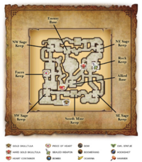 Hyrule Warriors Legends Watchers of the Triforce Wind and Earth Temples (Map)