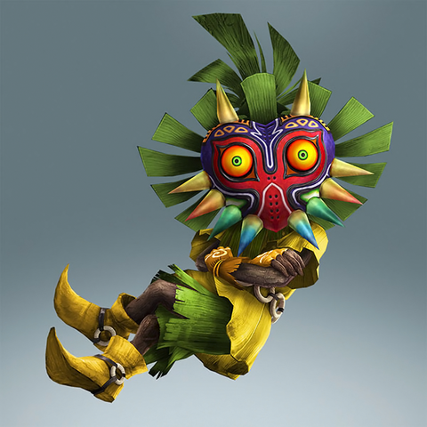 File:Hyrule Warriors Legends Skull Kid Standard Outfit (Koholint - Deku Scrub Recolor).png