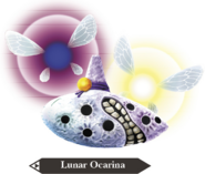 Hyrule Warriors Legends Ocarina Lunar Ocarina (Render)