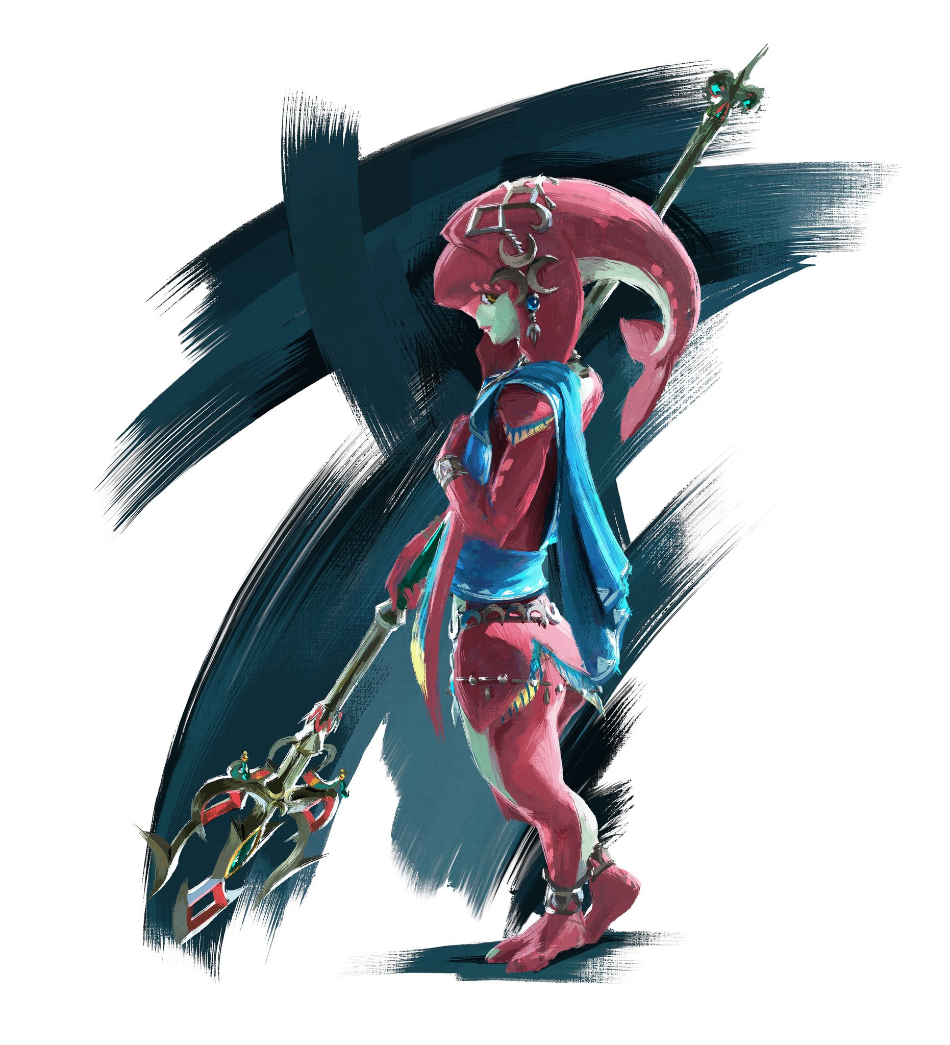 Link the Goron as well Medigoron likewise Sail also Mipha together with Din  goddess. on octorok ocarina of time