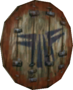 Twilight Princess Enemy Weapons Stalfos Wooden Shield (Render)