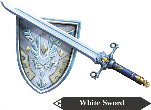 File:Hyrule Warriors Hylian Sword White Sword (Render).png
