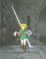 Link in a Dungeon (Link's Awakening).png