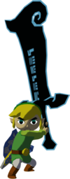 The Wind Waker Toon Link Phantom Ganon's Sword (Render)