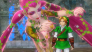 Hyrule Warriors Great Fairy Great Fountain Fairy & Hero of Time (Victory Cutscene)