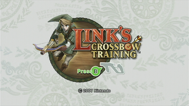File:Link's Crossbow Training (Title Screen).png