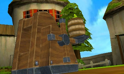 File:Hyrule Warriors Legends Tetra Tetra inside a Barrel about to be catapulted (Battle Intro cutscene).png
