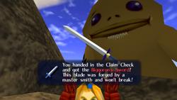 Receiving Biggoron's Sword